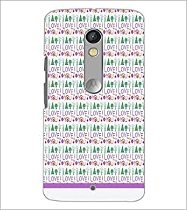 PrintDhaba I Love You Pattern D-1600 Back Case Cover for MOTOROLA MOTO X PLAY (Multi-Coloured)