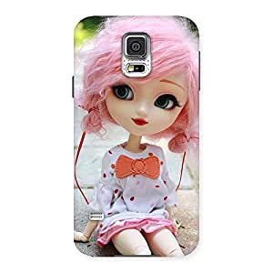 Enticing Pink Doll Back Case Cover for Samsung Galaxy S5
