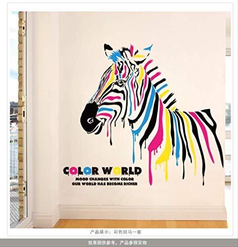zxyWandaufkleber Farbe Zebra Schlafzimmer Wohnzimmer Hintergrund Aufkleber Umwelt Liegen Entfernt Pvc -
