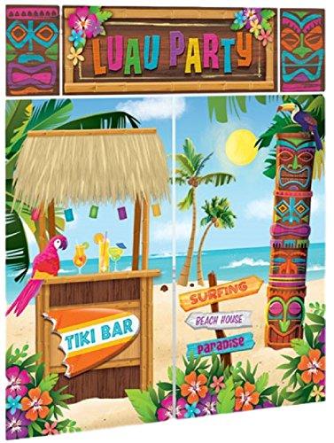 o Selfie Hintergrund Szene Setter Hawaiian Themen Tiki Luau Sommer Strand Feier Party Dekorationen (Strand-szene Hintergrund)