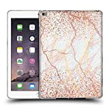 Head Case Designs Rose Gold Marmor Glitzer Druecke Soft Gel Hülle für iPad Air 2 (2014)