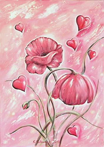 Acrylgemälde VALENTINES DAY 50cm x 70cm - gemalt Kunst gebraucht kaufen  Wird an jeden Ort in Deutschland