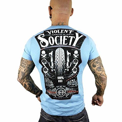 Yakuza Original Herren Violent Society T-Shirt Maui Blue