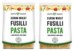 Chef's Basket Durum Wheat Fusilli Pasta, 500g (Pack of 2)