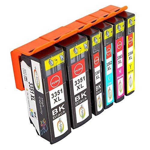 Win-Tinten Kompatibel Tintenpatronen Epson 33 XL für Epson Expression Premium XP-530 XP-540 XP-630 XP-635 XP-640 XP-645 XP-830 XP-900 Drucker (2 Schwarz+ 1 Photo Schwarz+ 1 Cyan+ 1 Magenta+1 Gelb) (Cyan 02 Tintenpatrone)