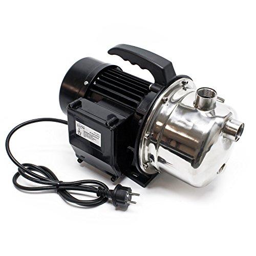 Pompe à eau domestique portable JET110S Pompe de jardin Acier inoxydable 1100 W 4600 L/h