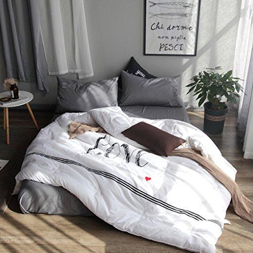 MMM Emballage à la broderie à l'hiver Quilt Edredon Noyau Coton épais Tenir doux Doublé au printemps et à l'automne ( taille : 200*230cm(3.5kg) )