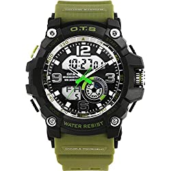 Men moving large dial/SimpleledDigital Watches/ men's waterproof watch-A
