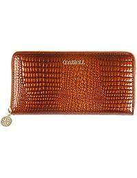 f2b010aef483b AUMING Geldbörse Damen Portemonnaie Lang Portmonee Krokodil-Korn-Dame  Leather Wallet Long multifunktionale große Kapazität Handtasche…