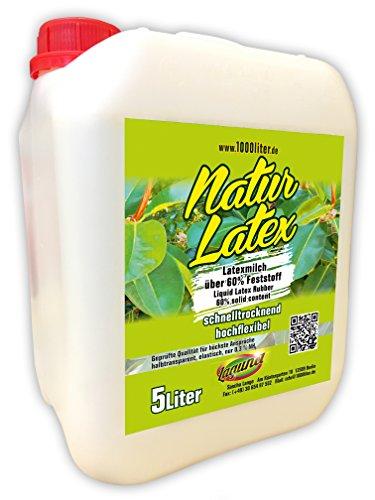 Flüssiglatex natur 5 Liter Kanister Maskenbildner Basteln Latexmilch Latex -