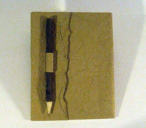 paperfreak *veganes Leder* Notizbuch A5 21x15cm Reisejournal Skizzenbuch Brahmanenleder wahiba-sands...