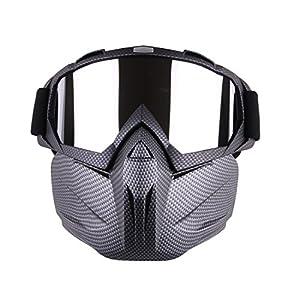 Tosbess Masque Tactical Paintball - Masque de Protection Résistant à Fléchette Nerf Airsoft War Game
