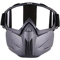 Máscara Airsoft, lommer desmontable Espejo Estilo protección máscara facial máscara táctica Máscara Gafas para Nerf, paintball y CS parte, color gris, tamaño 5 * 18 * 18.5cm