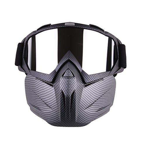 iVansa Maske für Nerf, Paintball Maske Taktische Schutzmaske Airsoft Maske mit Brille Gesichtsmaske für CS, Party, Skifahren