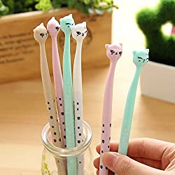 Colorido Lindo Diamante Gel Pluma Color Caramelo Kawaii Rollerball Escritura Bolígrafos Set para Regalo de Cumpleaños School Office Stationery Supplies Students Children Gift (Cat 2)
