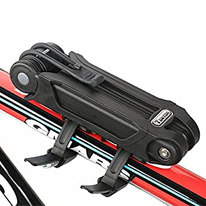 Folding Bike Lock, Spalyer Bike Folding Lock Security for Motobike, Bicycle with 3 Keys, Black from Spalyer