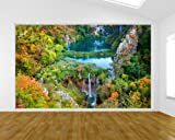 selbstklebende Fototapete - Plitvicer Seen II - Kroatien - 230x150 cm - Tapete mit Kleber – Wandtapete – Poster – Dekoration – Wandbild – Wandposter – Wand – Fotofolie – Bild – Wandbilder - Wanddeko