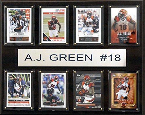 C & I Collectables NFL Cincinnati Bengals AJ grün gefaltet Plaque, 12x 15Zoll