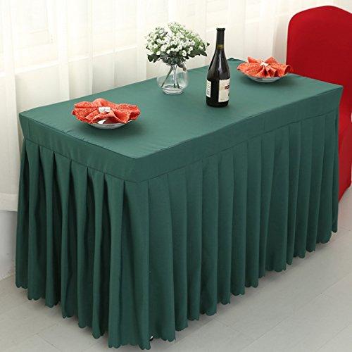 QPG Rechteck Zeichen Tisch Tisch Rock Tisch Decken Tisch Sets Küche Wohnzimmer Konferenz Rezeption Tischdecke Konferenztisch Rock Tuch Tischdecke ( Farbe : Dunkelgrün , größe : 60*180*75cm )