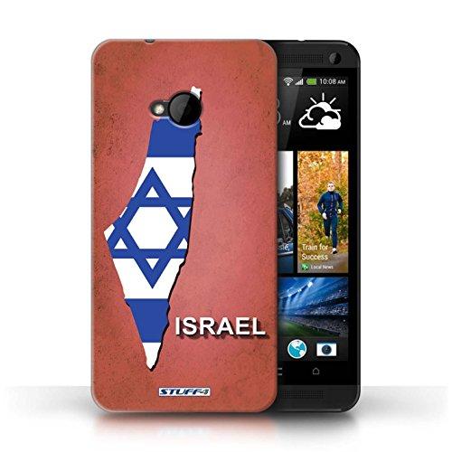 Coque de Stuff4 / Coque pour HTC One/1 M7 / Amérique/Américain/USA Design / Drapeau Pays Collection Israël/Israélien