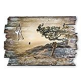 Kreative Feder Baum Designer Schlüsselbrett, Hakenleiste Landhaus Style, Shabby aus Holz 30x20cm, HSB020
