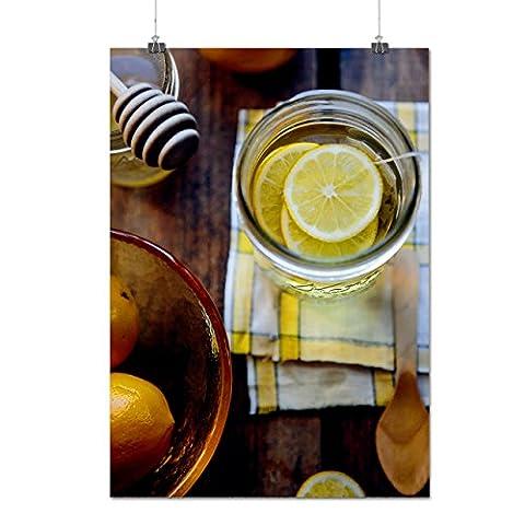 Lemon Photo Kitchen Food With Sweet Honey Matte/Glossy Poster A3 (42cm x 30cm) | Wellcoda