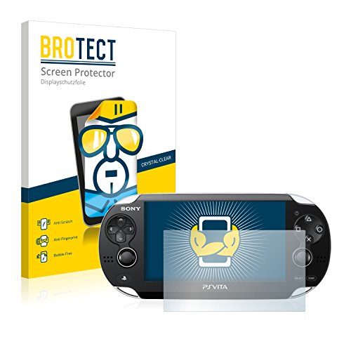 BROTECT Schutzfolie für Sony Playstation Vita [2er Pack] - kristall-klare Displayschutz-Folie, Anti-Fingerprint