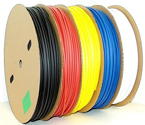 Schrumpfschlauch lfd. Meterware Auswahl aus 10 Größen 5 Farben (hier: Ø 2mm, schwarz)