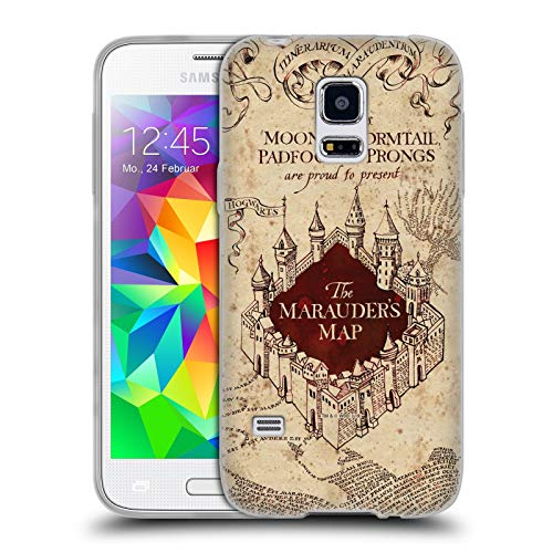 Head Case Designs Offizielle Harry Potter The Marauder's Map Prisoner of Azkaban II Soft Gel Huelle kompatibel mit Samsung Galaxy S5 Mini (S5 Galaxy Case Potter Phone Harry)