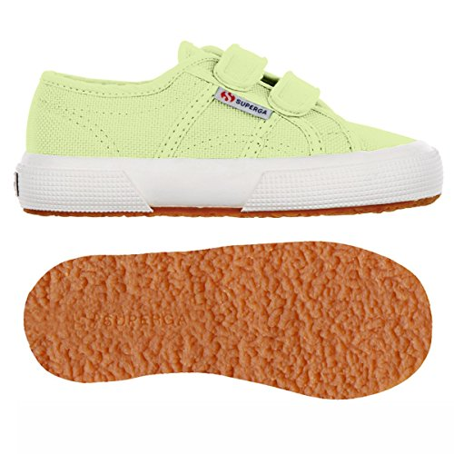 Superga 2750 Jvel Classic, Sneaker Unisex-bambini GREEN SUNNY LIME