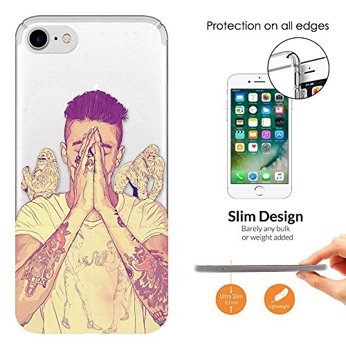 c01442 - Sexy Man Boy Tattoos Arms Praying Model Gorillas Justin Design iphone 7 Plus 5.5