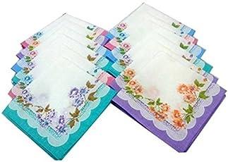 GLOBAL GIFTS_SET OF 24 BEAUTIFUL HANNDKERCHIEF Handkerchief