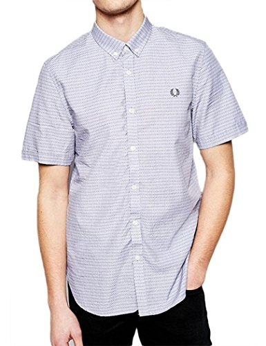 Fred Perry - Chemise Homme Fred Perry Gris Avec Petit Motif - S, Gris