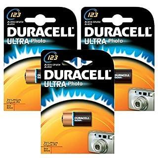 Aksans (TM) 10 LITHIUM CR123 123/123A EL123A DURACELL Batterie 3V