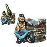 Flaschenhalter Biker Motorrad Weinflaschenhalter Wein Bier Rocker