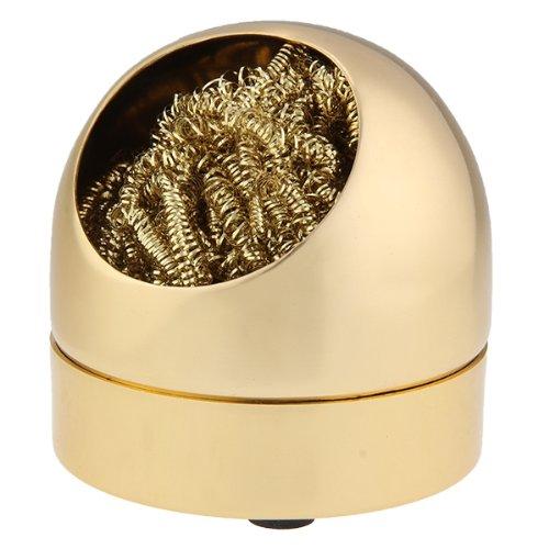 Lötzinn Abstreifer Lötspitzen Reiniger Metallschwamm Schwamm Goldfarbe NEU