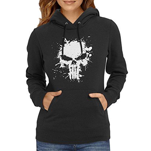 TEXLAB - Punish Splash - Damen Kapuzenpullover, Größe S, schwarz (Marvel Cinematic Universe Spider Man Kostüm)
