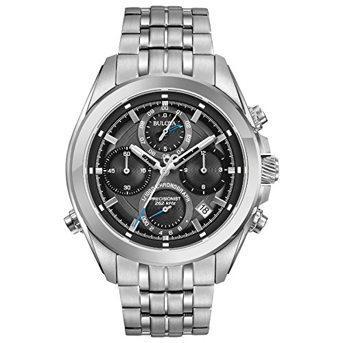 Bulova Men's Quartz Stainless Steel Casual Watch, Color Silver-Toned (Model: 96B260)