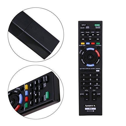 Angrox RM-YD103 RM YD103 Mando a distancia universal de repuesto para televisor para Sony Bravia y televisores inteligentes HDTV LCD LED 3D.