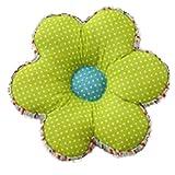 Nunubee Kissen Baumwollmaterial Blumenform Tatami-Stil zierkissen mit füllung apelt kissenhülle vintage deko Dekoration deko kissen deko wohnzimmer Autodekoration sofa cover, Regentropfen grün 40x40cm