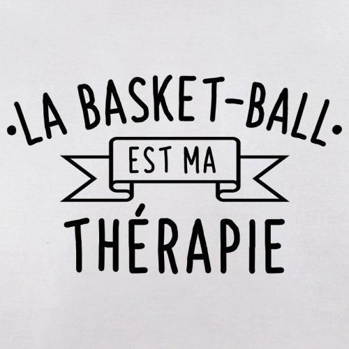 La Basket-ball est ma thérapie - Femme T-Shirt - 14 couleur Blanc