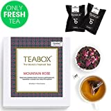 #7: Teabox Mountain Rose Black, 44 Teapac Teabags (4 Free Exotic Sample Teapacs Included) | 100% Natural Ingredients: Cornflower, Cardamom, Rose Petals, Jasmine | Sealed-at-Source Freshness