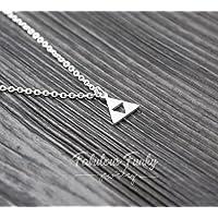 Geometrische Dreieck Kette - Silber