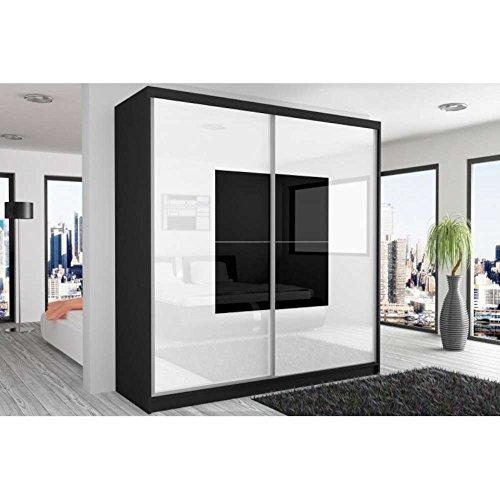 justhome-beauty-armoire-218-200-60-couleur-noir-mat-blanc-noir-laque-haute-brillance