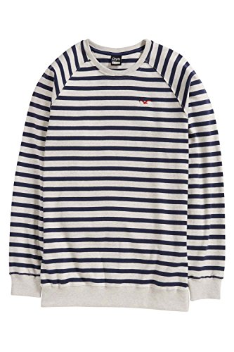 Cleptomanicx Herren Sweatshirt weiß/blau
