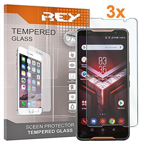 pack 3x pellicola salvaschermo per asus rog phone 2, vetro temperato, di qualità premium