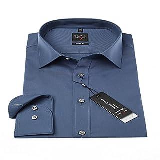 Herren Hemd Level 5 Body Fit Langarm, Blue, Gr:: L/42