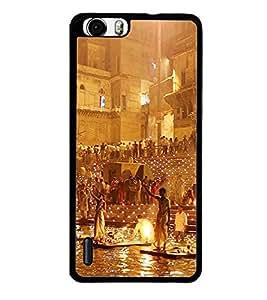 ifasho Designer Back Case Cover for Huawei Honor 6 (Monument Varanasi Ganga Ghat Bangalore India Madurai)