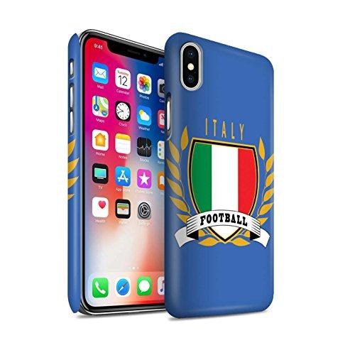 STUFF4 Matte Snap-On Hülle / Case für Apple iPhone X/10 / Schottland/Scottish Muster / Fußball-Emblem Kollektion Italien/Italienisch