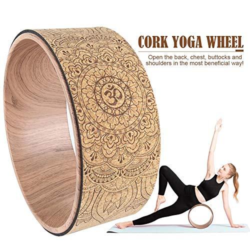 Brillie Yoga Rad | Extra stark, natürlicher Kork, Dharma Rad, umweltfreundlich | intensivere Dehnung, verbessert die…
